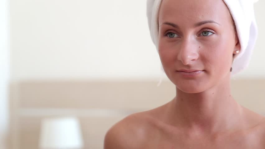 Beautiful Woman Touching Face Skincare Stock Footage Video 100 Royalty Free 32283835 Shutterstock