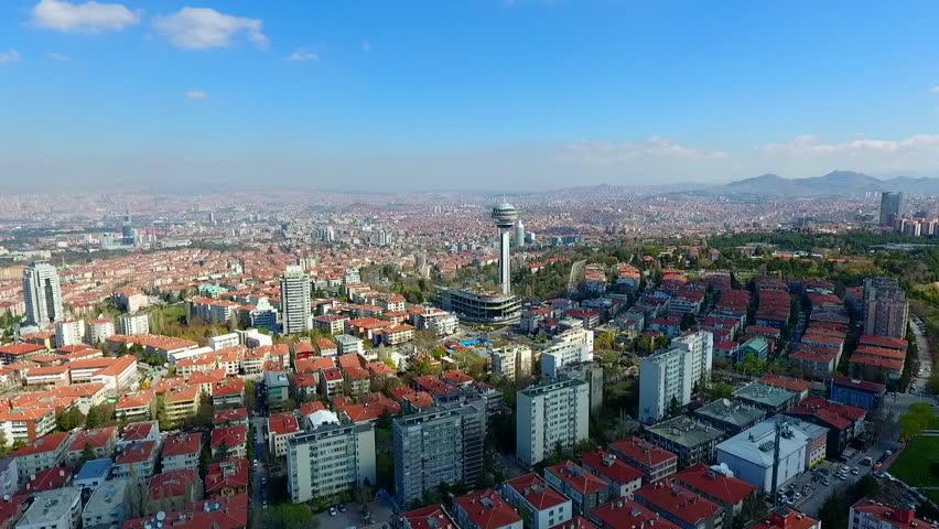 Aerial view Capital Of Turkey Ankara On September 6, 2017 In Ankara, Turkey