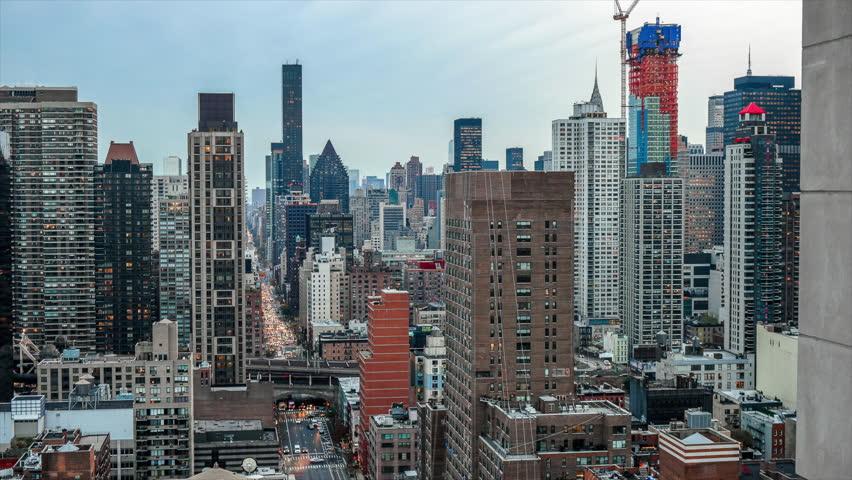 New York City Skyline Sunset Cars Time Lapse | Shutterstock HD Video #32311180