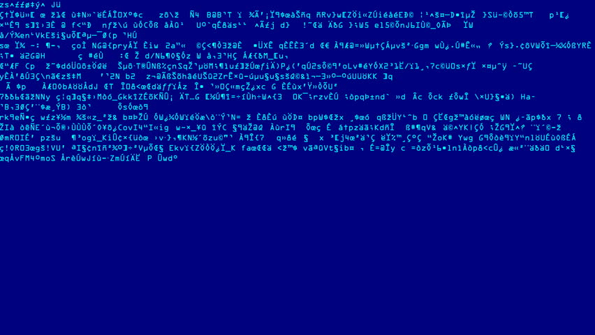 Blue Code Scramble Scans. Full screen saver graphic loop as complex encrypted codes randomly fluctuates on the display. | Shutterstock HD Video #32360872