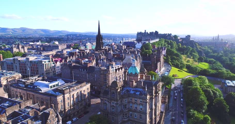 Aerial Edinburgh Scotland UK | Shutterstock HD Video #32379562