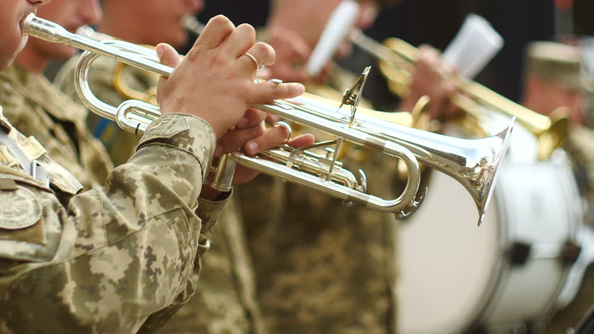 The military band playing the Cornet. 50 fps | Shutterstock HD Video #32419972