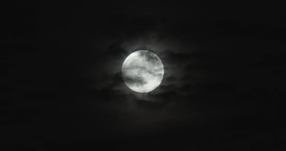Bright Full Moon - Thin Clouds In Front | Shutterstock HD Video #32436511