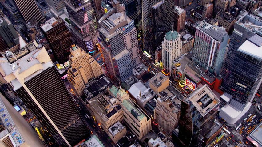 New York - August 20, 2012: Aerial view New York city skyscrapers New York | Shutterstock HD Video #3244063
