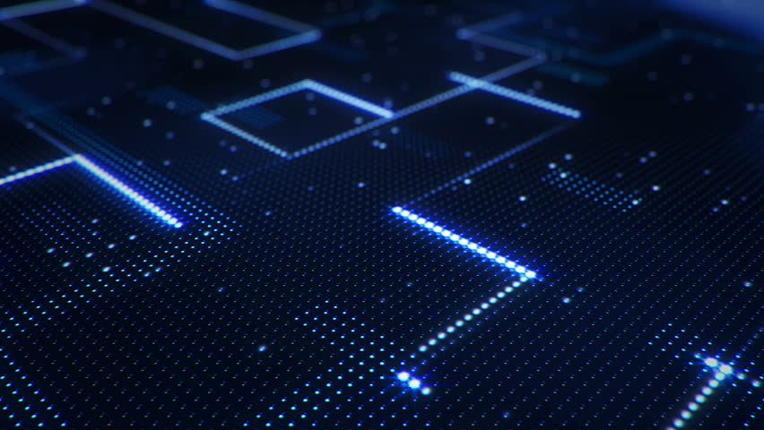 Abstract technology background of led screen with moving stripes and flickering particles. Animation of circuit electric signal with light shine. Animation of seamless loop. | Shutterstock HD Video #32508250