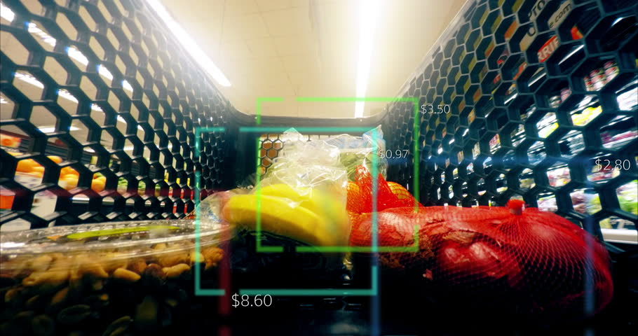 Grocery Food Shopping Time Lapse Smart Scanner Shop Cart Supermarket 4K | Shutterstock HD Video #32540461