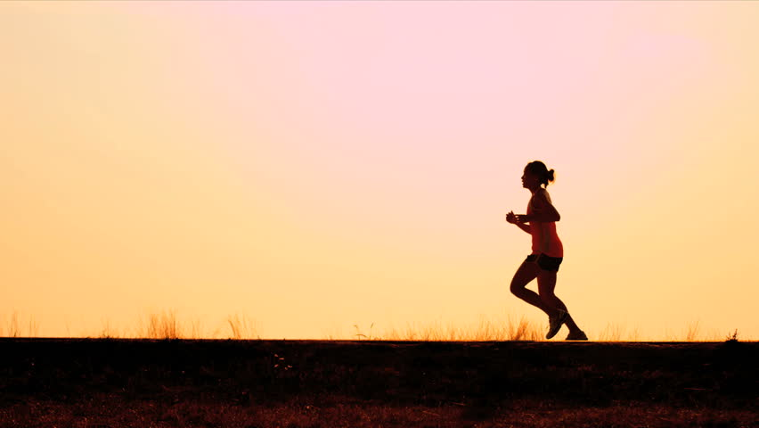 Healthy females runner work out on road sunrise shot on RED EPIC | Shutterstock HD Video #3256213