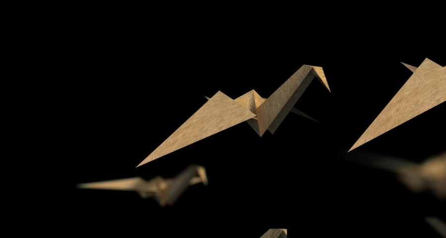 Origami Flapping Paper Crane Mobile!   480x900