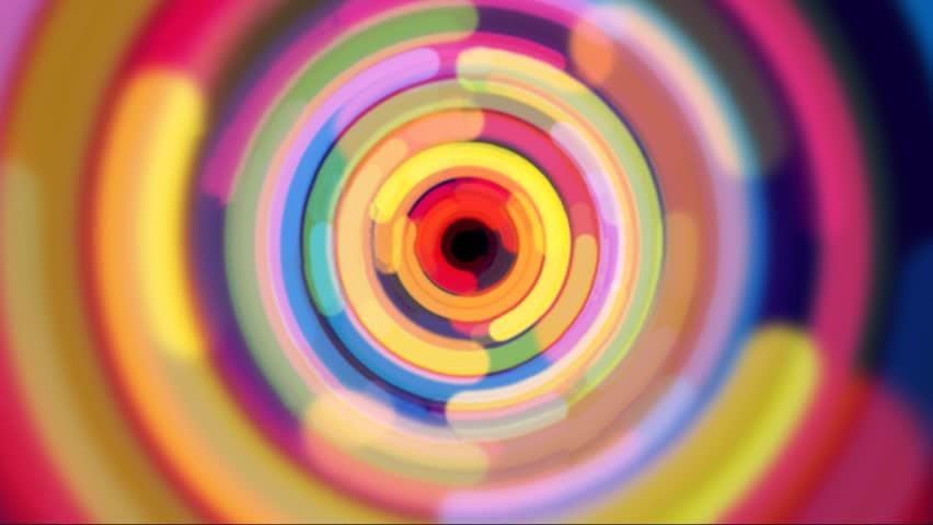 Zoom in rainbow color half circle design | Shutterstock HD Video #3257011