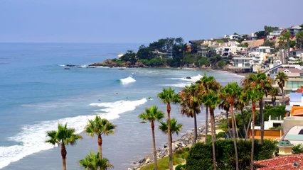 Aerial Drone Stock Video Beautiful Beach Houses in Malibu