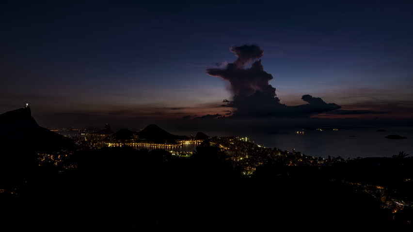 Night to Day Timelapse from Vista Chinesa, Rio de Janeiro, Brazil