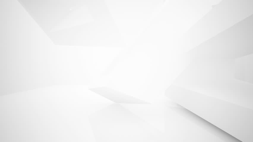 Abstract white interior highlights future. Architectural background. 3D animation and rendering. Part 2