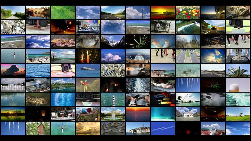 Video Wall background widescreen 4K video