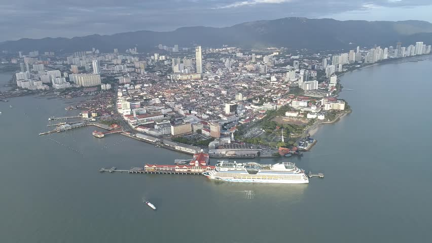 Aerial view of Penang, Malaysia.