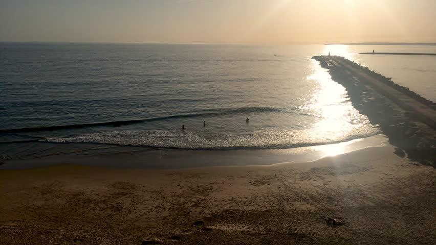 View to Praia do Molhe beach in Ferragudo Portimao Algarve.   Shutterstock HD Video #32602009