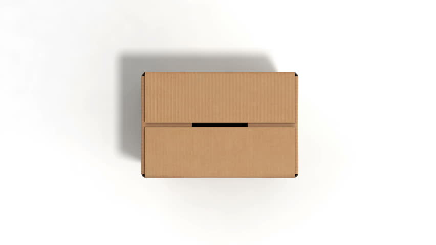 Open cardboard box on white background #32606179