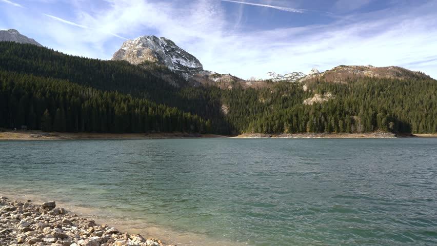 Beautiful mystical lake. Black Lake, Durmitor National Park