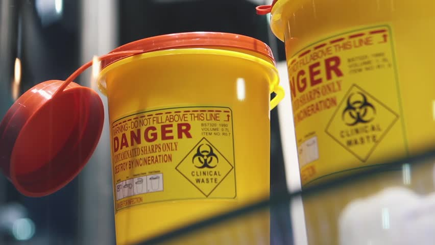 Container For Medical Waste | Shutterstock HD Video #32635729