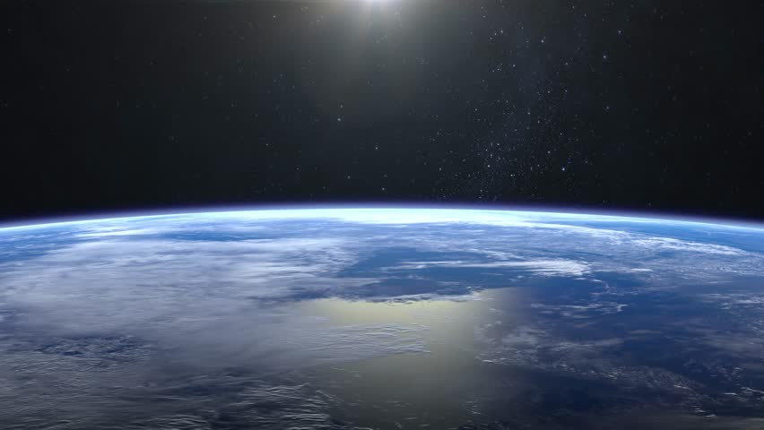 Beautiful View of Earth from space. Sunrise. Flight over the Earth. 4K. The camera flies to the right. 3D Animation. | Shutterstock HD Video #32691652