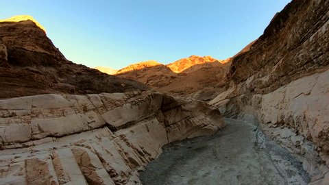 Beautiful Mosaic Canyon at Death Valley National Park in California