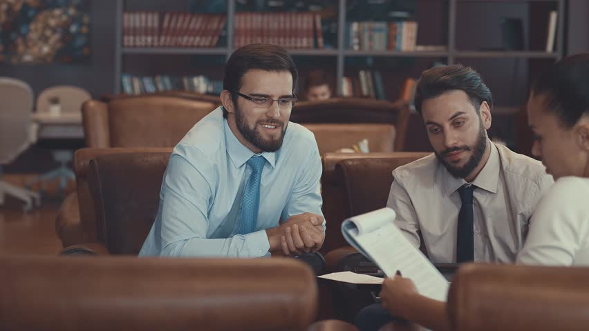 Businessmen at meeting | Shutterstock HD Video #32743648