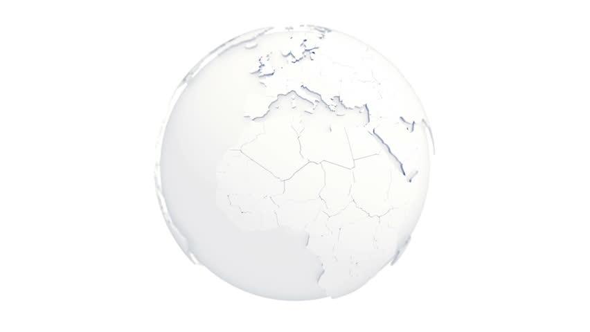 looping spinning world globe. Digital abstract model of earth. Seamless loop