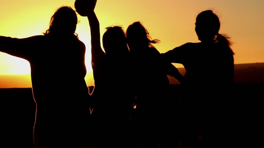Best Friends At Sunset Four Stock Footage Video 100 Royalty Free 32746405 Shutterstock