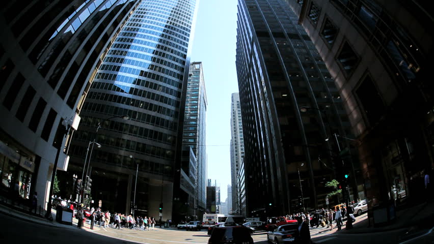 P.O.V. driving traffic intersection people crossing Chicago August 18, 2012 | Shutterstock HD Video #3276284