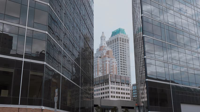 Modern office buildings in Tulsa Downtown - TULSA / OKLAHOMA - OCTOBER 15, 2017   Shutterstock HD Video #32801632