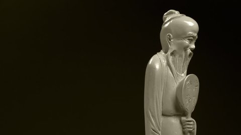 Carved Figurine Of An Old Stock Footage Video 100 Royalty Free 32812003 Shutterstock