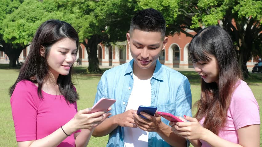 Happy student use phone in the school | Shutterstock HD Video #32817043