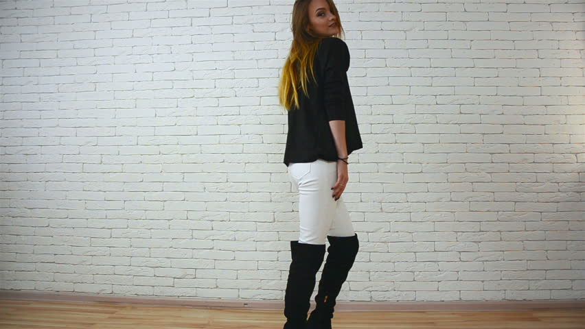 girls in black boots