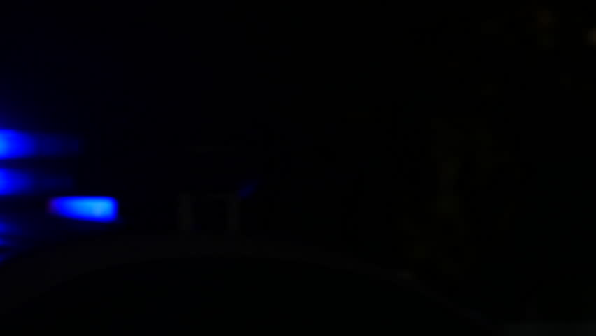 Flashing lights of the police car at night   Shutterstock HD Video #32832166