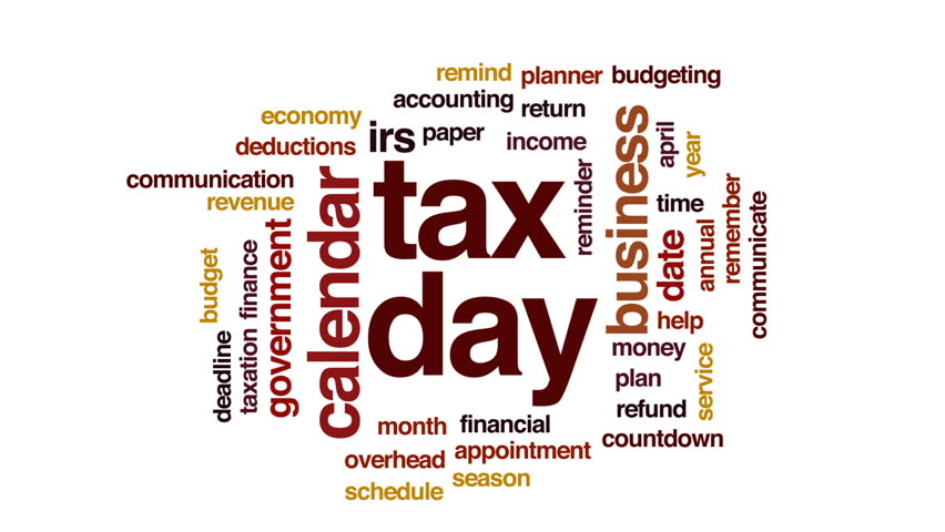 Tax day animated word cloud, text design animation. | Shutterstock HD Video #32834032