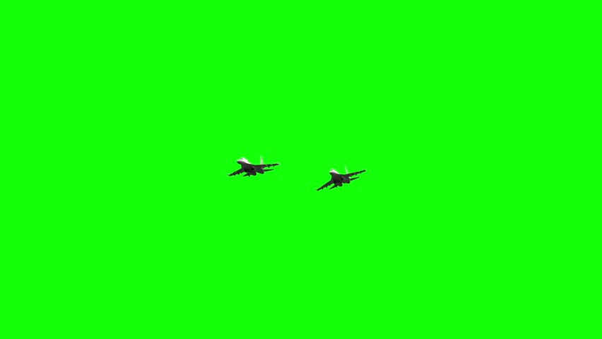 3d rendered animation of jet fighters in flight on green screen | Shutterstock HD Video #32847178