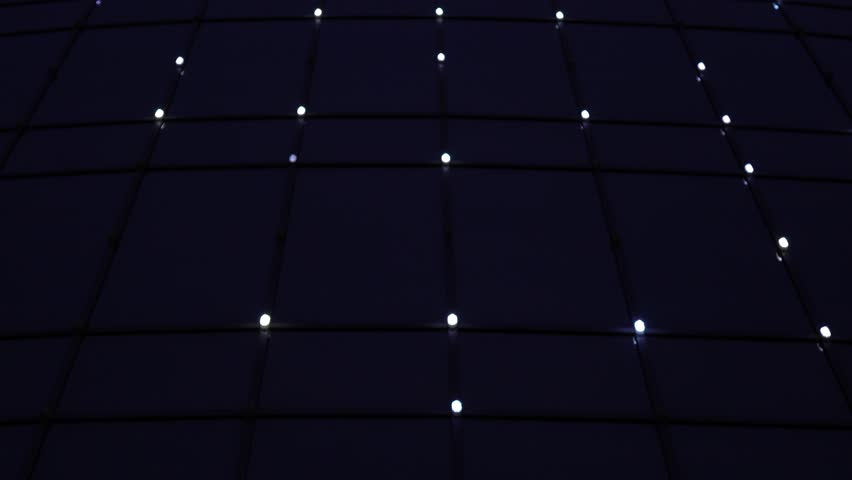 Light on a dark background.Bright floodlights flashing. Set lights on and off.   Shutterstock HD Video #32872222