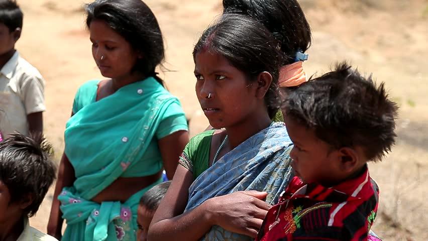 April 2016. India. Bihar. Scared poor indian village children. Children of Third World Countries. Portraits of beggars dirty child. | Shutterstock HD Video #32880028