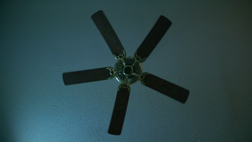 Moving ceiling fan in a hotel room