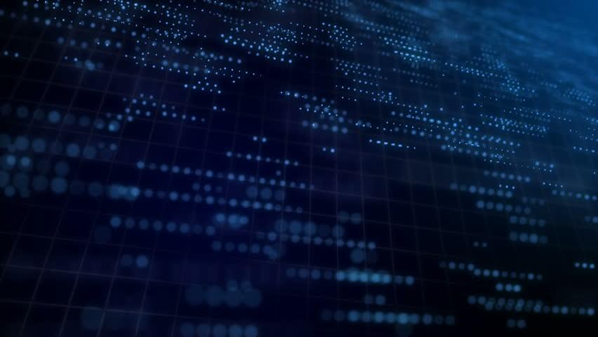 Digital network data grid technology background blue | Shutterstock HD Video #32886217