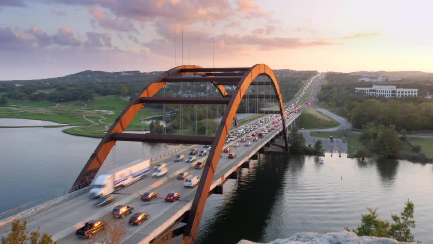 Time Lapse of the Austin Texas 360 Bridge at Night