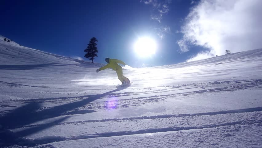 Snowboarder Downhill Super Slow Motion   Shutterstock HD Video #3290018