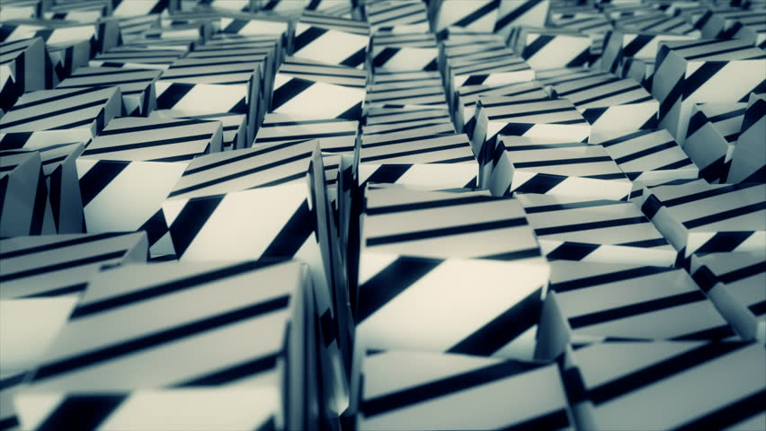 Abstract striped cubes. Seamless looping animation. 4K UHD. | Shutterstock HD Video #32912110