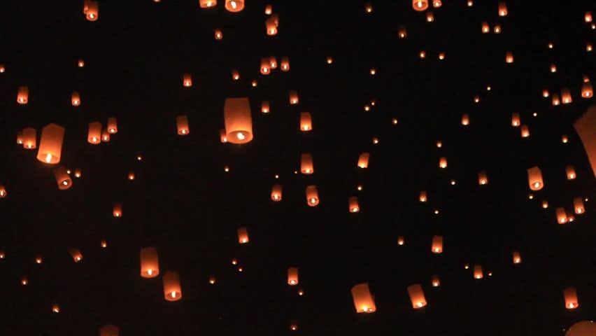Flying lantern yeepang festival #3293015