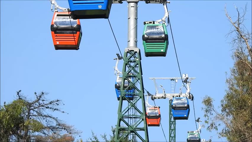 Cable car ride in Santiago, Chile   Shutterstock HD Video #32930503