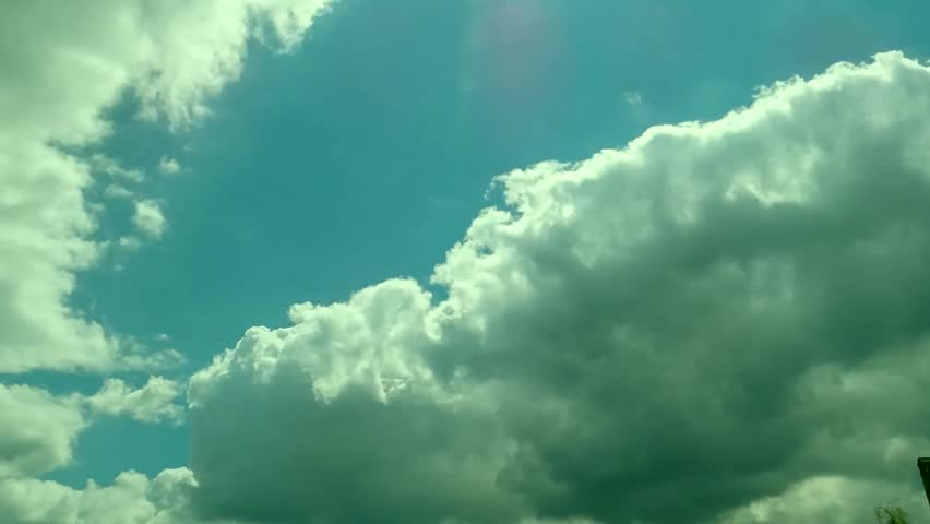 CLOUDS & SKY MOVING IN NICE BLUE SKIES PANORAMIC. CLEAR GOOD WEATHER. clouds. time lapse HD NTSK, Seamless Loop Cloud, White Clouds & Blue Sky, Flight over clouds, loop-able, cloudscape, day. FHD. | Shutterstock HD Video #32940640