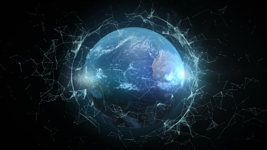 4K abstract networking, Digital World connecting, Elements of this image furnished by NASA. | Shutterstock HD Video #32967088