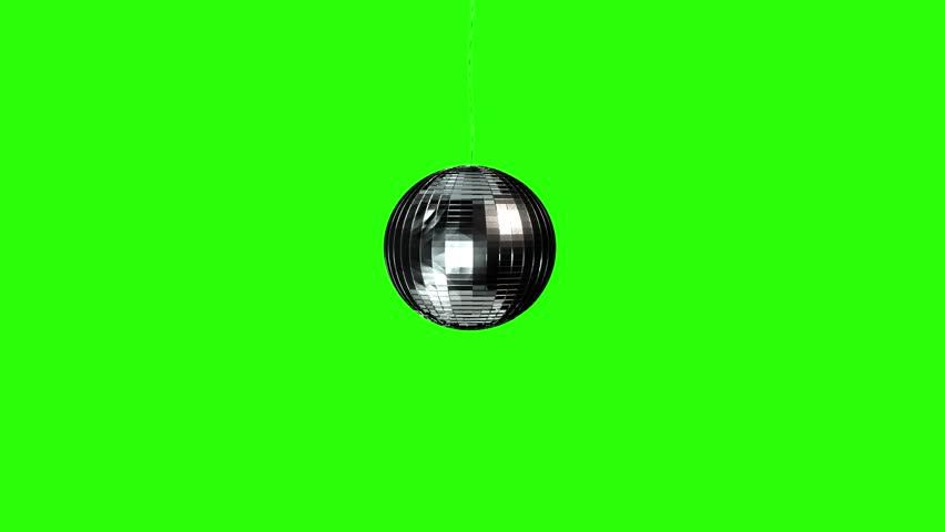 Green Screen spinning Disco Ball - includes alpha matte