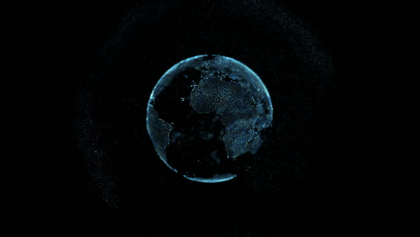 Close up of planet earth rotating animation future technology business concept #32990812