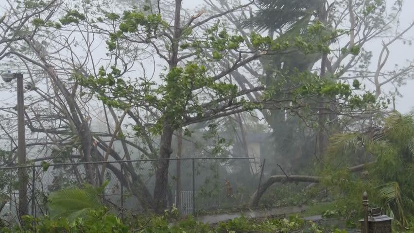 Hurricane Maria pounding winds fury