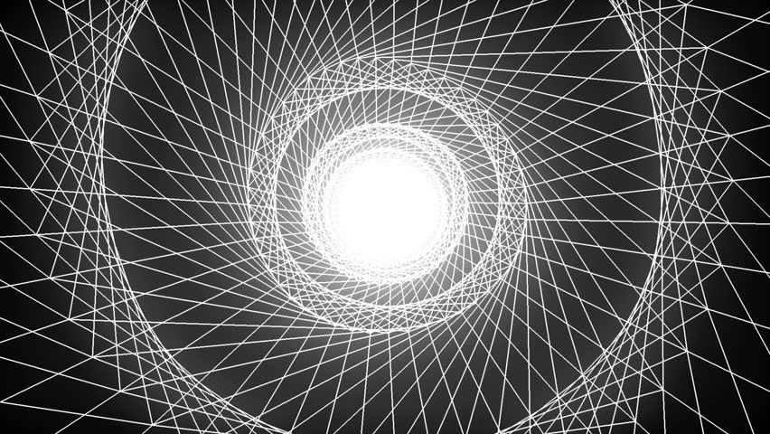White Wireframe LOOP | Shutterstock HD Video #33027034